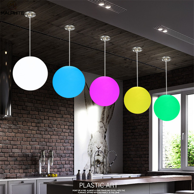 P61 Led Pendant Light Outdoor Indoor Party Bar Lamp Luminaire Remote Control Colour Decor Lighting Fixtures