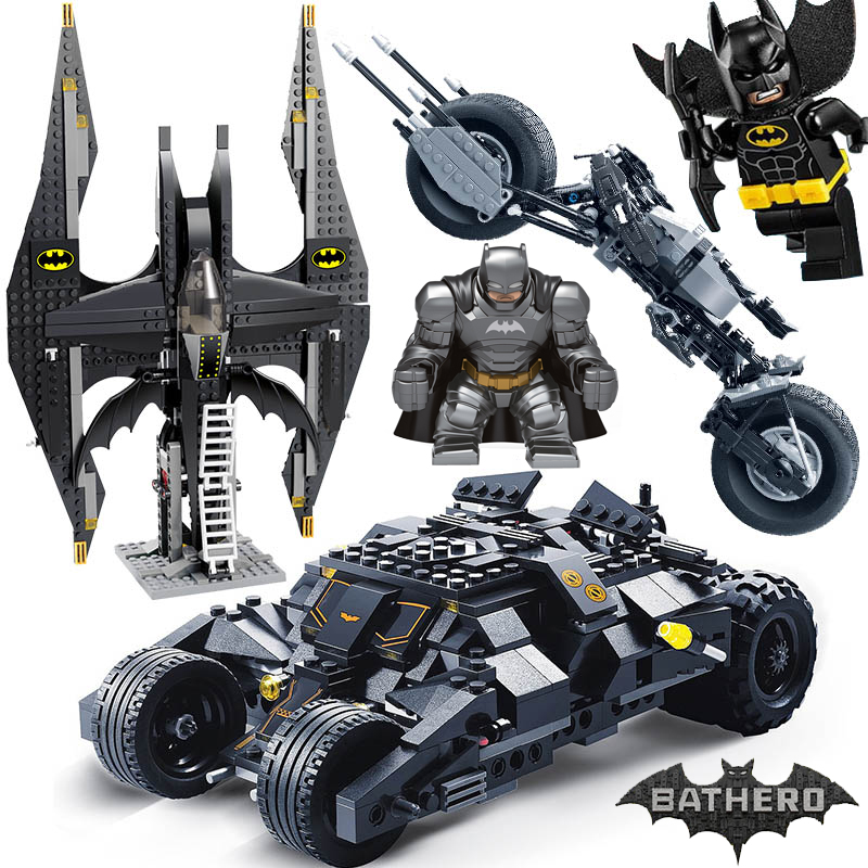 Decool 7105 7116 Comaptible Legoing Batman Tumbler Movies Figures Batpod Batmobile Set Building Blocks Kids Toys Technic Bricks