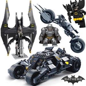 Decool 7105 7116 Comaptible Legoing Batman Tumbler Movies Figures Batpod Batmobile Set Building Blocks Kids Toys Technic Bricks(China)