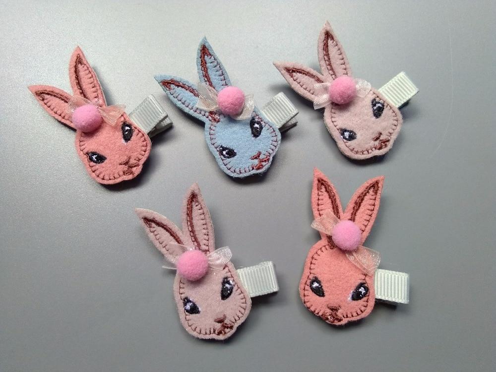 Boutique 20pcs Fashion Cute Lace Skirt Rabbit Hairpins Solid Kawaii Bowknot Bunny Hair Clips Princess Headwear Hair Accessories Accessories