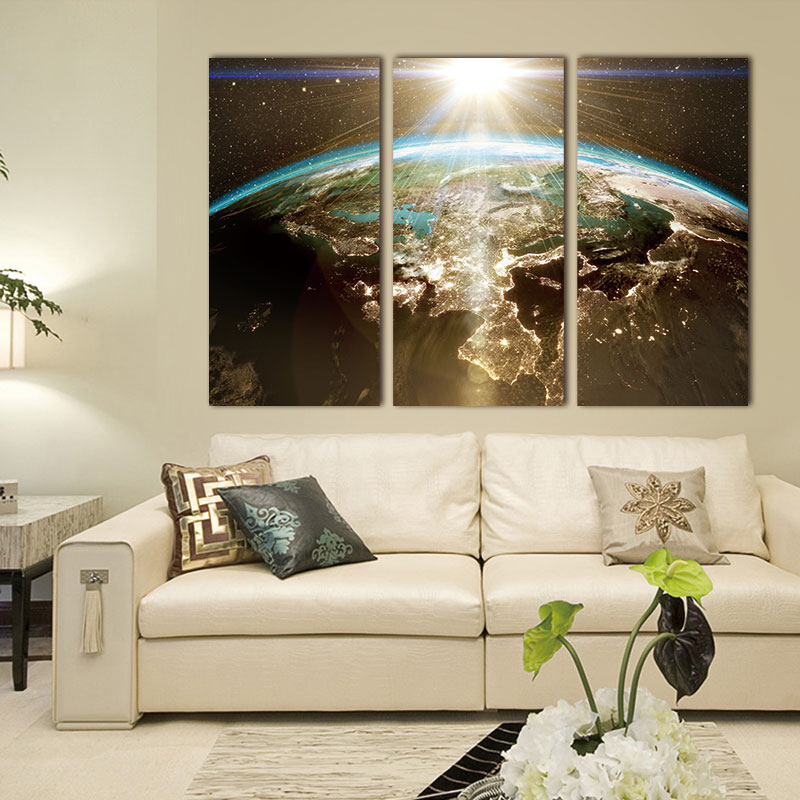 Buy world map canvas painting wall - What type of paint for living room walls ...