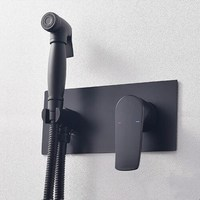Смесители для биде латунь ванная душ кран Биде Туалет опрыскиватель биде гигиенический Душ смеситель мусульманский душ ducha higienica черный