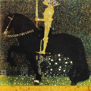 Handmade oil painting reproduction The Golden Knight by Gustav Klimt