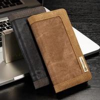 Для iPhone 7 Plus чехол оригинальный CaseMe холст джинсы ткань Стиль флип бумажник подставка и рамка для фотографии для Apple iPhone7 8 плюс