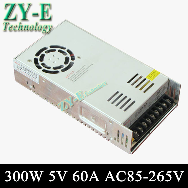 5V 60A 300w Switching led DC Power Supply non-waterproof led driver for LED display screen block power Free shipping s 360 5 dc 5v 360w switching power source supply 5v led driver good quality power supply dc 5v