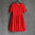 Семьи матч взгляд летом кружева девушка день рождения юбки мать и дочь платья семья установлены одежда мама девочки платье