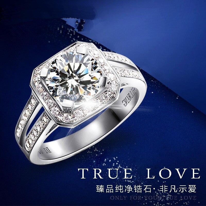 2017 nouvelle personnalité de la mode de haute qualité 100% creative luxe cristal femmes bague de mariage bijoux 925 en argent sterling