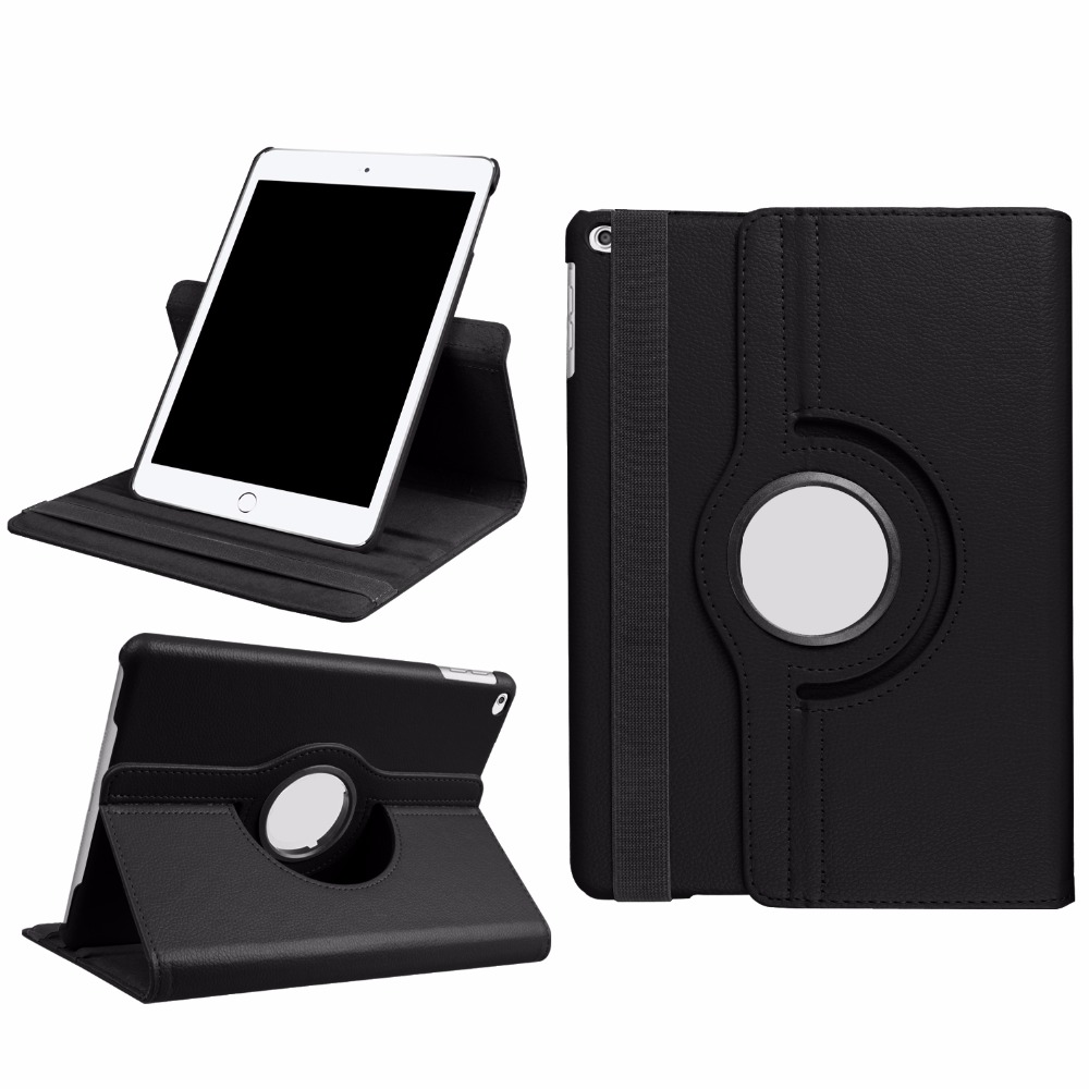 Case For Ipad 2017 9.7 360 Degree Rotating Stand Smart Cover With Auto Wake/Sleep PU Leather Case For Ipad 9.7 Inch 2017