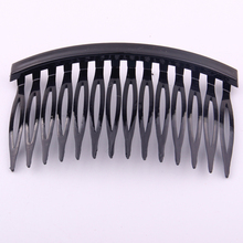 7.5*4.5cm DIY  Hair Comb With 14 Teeth for girls women hair using accessory making black colors 20 pcs Per Lot