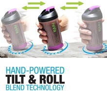 Revablend Portable Blender Requires no Battery Ultimate Personal Reva Blend Bottle Hand Powered Bottle  Smoothies Juices Shakes
