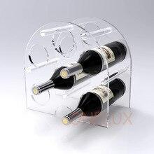Lucite Plexiglass Wine Rack For 6 Bottles,Clear Acrylic Wine Bottle Holder – 3 colors