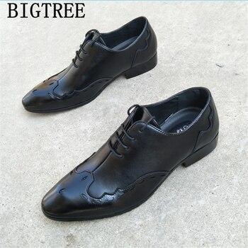 e3bcdbd7d57 Zapatos de brogue italianos zapatos oxford elegantes para Hombre Zapatos de  vestir de oficina de cuero zapatos de hombre de moda para boda