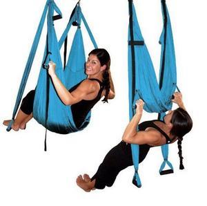 Image 4 - Balançoire de gymnastique de Yoga de Traction aérienne Anti gravité de trapèze dinversion de hamac de décompression de haute résistance accrochant 10 couleurs