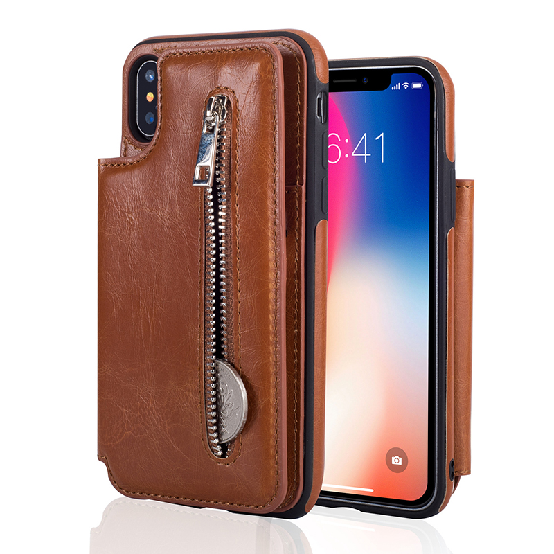 Jiban para el iPhone 7 7 más capa 6 6 s más caso mini monedero Bolsas tarjeta ranuras para iPhone x 8 más Carcasas