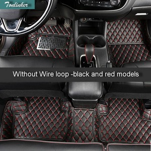 Tonlinker 3-6 Pcs DIY Car Style Leather 3D Full Surround Foot Pad Cover Case stickers for Mitsubishi Outlander 2013-16