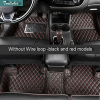 Tonlinker 3 6 Pcs DIY Car Style Leather 3D Full Surround Foot Pad Cover Case stickers for Mitsubishi Outlander 2013 16