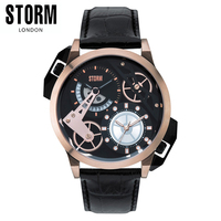 STORM Fashion Industrial Retro Creative Dual Time Men's Watch DUALON ROSE GOLD LHR