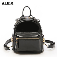 High Quality Patent Leather Backpack Women Solid Casual Daypacks Female Backpacks For Teenage Girls Shoulder Bags