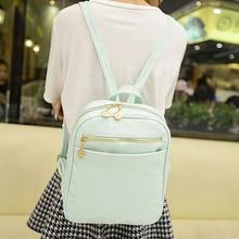 Style coréen Petits Sacs À Dos Cartable Occasionnel Femelle Collège PU Épaule Sac Femmes Sac Filles Sacs de Voyage Loisirs sac