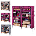 7Layers 6 Grids Shoe Rack with Cover Living Room Shoes Cabinet Storage Organizer DIY Non-Fabric Shoe Racks Shelf