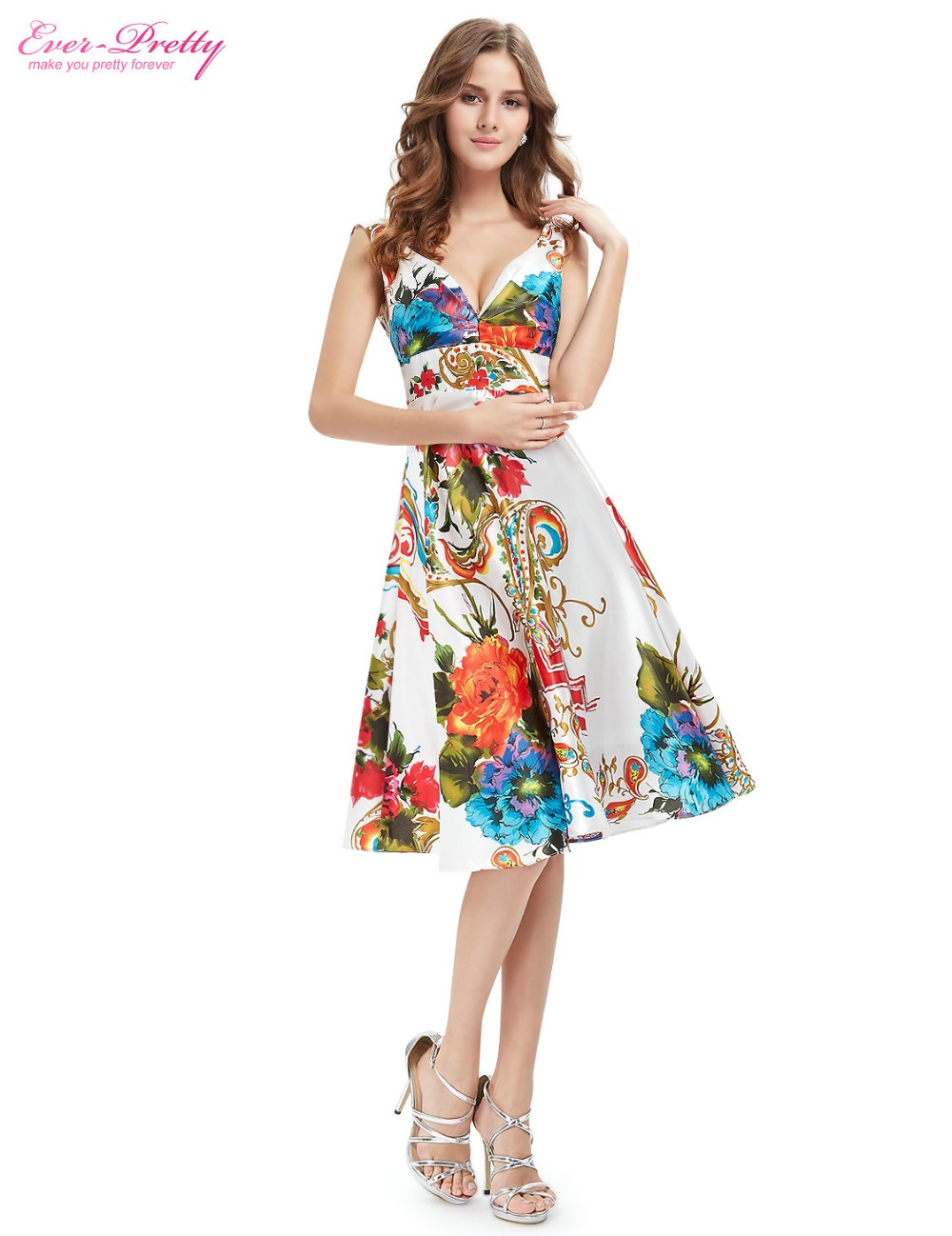 Cocktail Dresses EP03381 Ever Pretty Hot Sale Double V neck Empire ...