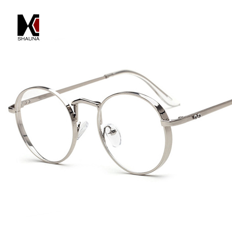 SHAUNA Vintage 6 Colors Thick Metal Frame Women Round Reading ...