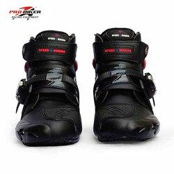 Pro-biker profesjonalne buty moto rcycle mężczyźni buty do motocyklu wyścigowego botas moto rcycles moto buty jeździeckie rozmiar 40-45 czarny