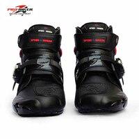 Pro-biker professional motorcycle boots men racing motorbike boots botas motorcycles moto riding shoes Size 40-45 black
