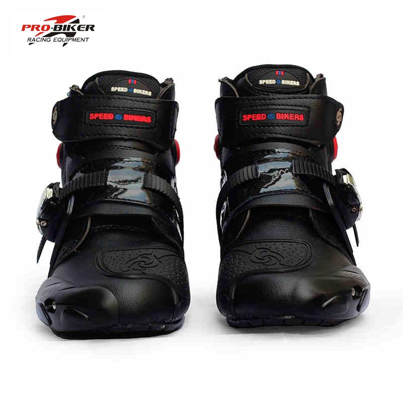 Prix pour Pro-cycliste professionnel moto bottes hommes racing moto bottes botas motos moto équitation chaussures Taille 40-45 noir
