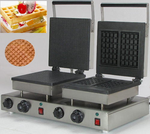 Electric Commercial Double bakers thin waffle iron maker for sale double commercial electric rectangle cone maker and butterfly waffle maker for sale