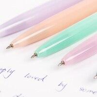 Jelly Color Kawaii Ballpoint Pen Plastic Press the Ballpoint Pen School Supplies Stationery Papelaria B-573F