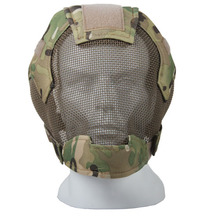 Baseball Paintball Airsoft Full Face Metal Mesh Mask New Gas Mask For Hunting GZ90043