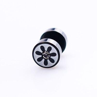 wholesale 2PCS>1Pair Jewelry for women Men Earring Vintage Mens Stud Earrings Ear Plug Stainless Piercing Jewelry