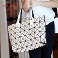 DLKLUO Bao Bao Mujer Diamante Bolsa de Asa Superior Issey Miyak Bolso de Moda de señora salvaje bolsa de pliegues nuevo cuadrado mágico briefcase5 * 8