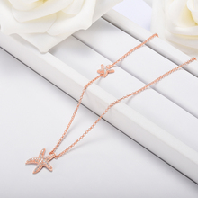 ANFASNI New Trendy Starfish Charm Necklaces & Pendants Sparkling AAA Cubic Zircon Chain Necklaces For Women Friendship Jewelry