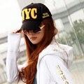 Envío libre, 1 unids, 2015 gorras de béisbol de Corea Del Sur los hombres y mujeres Del Snapback de Hip Hop NYC verano Al Aire Libre Capsleisure enarboló el sombrero.