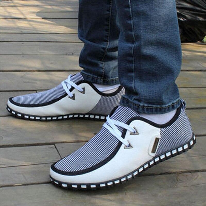 Sıcak Satış sonbahar moda yeni erkekler rahat ayakkabılar, Kore rahat nefes hafif yassı ayakkabı, çoklu Renk Dantel ayakkabı