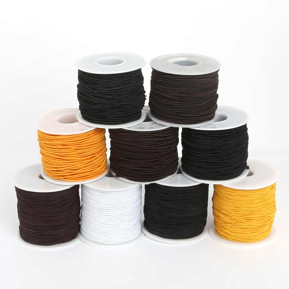 Dia 0.8/1.2/1.5mm Round Elastic Rope Multirole Elastic Band Trim Ribbon Sewing Spandex Lace Trim Waist Band Garment Accessory