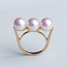 Eternal wedding Women Gift word 925 Sterling silver real Seiko 18 K , Japan imports natural Akoya sea water pearl ring, balance цена и фото