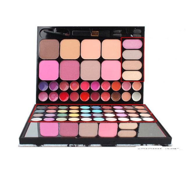 72 Cor Leopardo Conjunto de Maquiagem Para Os Olhos Sombra Cosméticos Sombra de Blush Corretivo Lip Gloss Palette Make up Tools