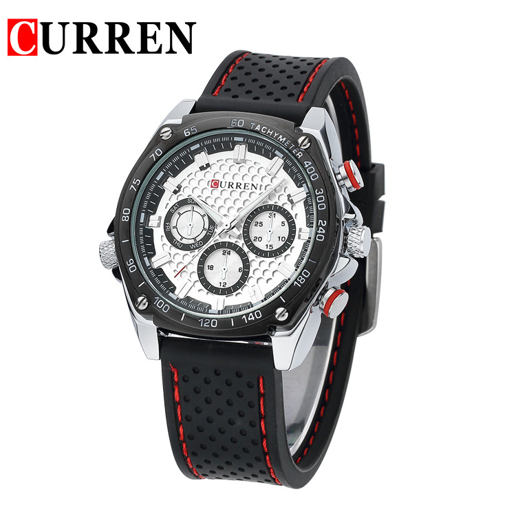 9f52064f0c US $13.43 44% OFF|CURREN new fashion casual quartz watch men large dial  waterproof chronograph wrist watch free shipping 8146-in Quartz Watches  from ...