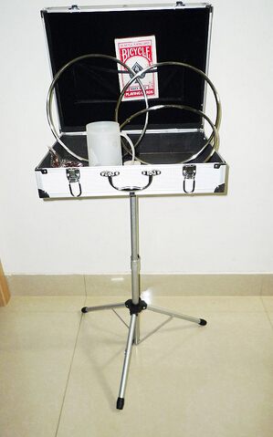 ФОТО Carrying Case & Mak Table Base (silver,45*35*10.5cm) - magic trick,stage magic,accessories,gimmick,prop
