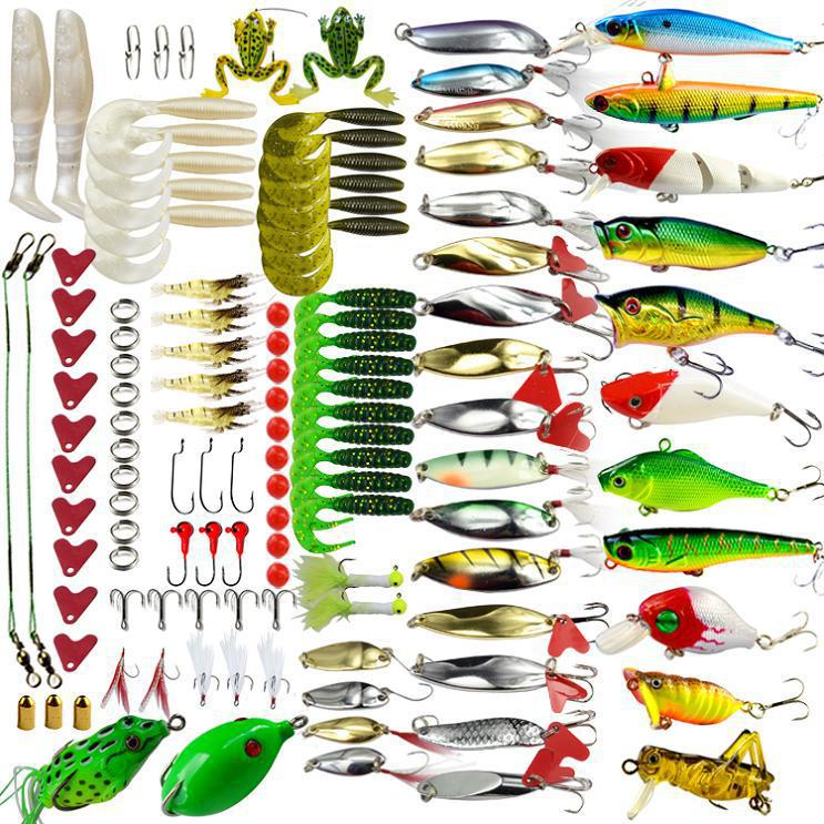 Free shipping !Fishing Lure/baits ,complete collection .120pcs/ set ; Fishing spoon /spinner / minnow ;