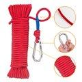 20 м нейлоновая веревка  рыболовная веревка  безопасная высокопрочная плетеная веревка с защитным замком  аксессуары для кемпинга  туризма  ...