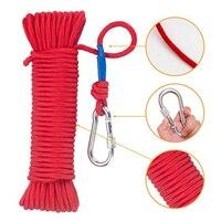 20 м нейлоновая веревка, рыболовная веревка, безопасная высокопрочная плетеная веревка с защитным замком, для кемпинга, пешего туризма, аксе...