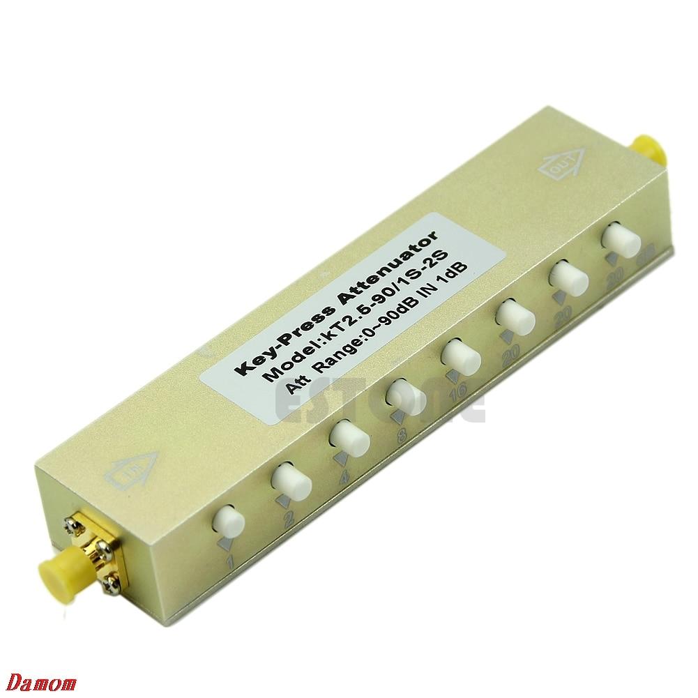 Adjustable Key-Press Press Variable Attenuator 5W DC-2.5Ghz 0-90dB 8-key MY8_10 цена