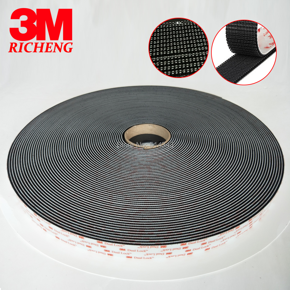 3M SJ3551 Black Acrylic Double sided tape 1 in *50 yards 1 roll adhesive tape 1pcs 18mm x 5mm single sided self adhesive shockproof sponge foam tape 3 meters