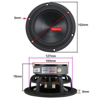 5.25 inch Woofer Speaker Unit 4ohm 60W Subwoofer 1PC 6