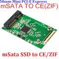 """5 pcs Alta Velocidade mSATA para Adaptador Mini PCI-E SATA ZIF 1.8 """"a CE ZIF 40Pin Converter para 50mm 1.8 Polegada mSATA SSD para PC Portátil"""