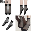 Women Lady Sexy Lace Ankle High Fishnet Mesh Net Solid Color Short Crew Socks